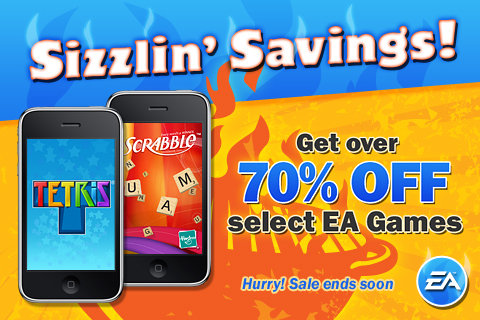 EA Mobile - 70% off with sizzling savings on iPhone/iPod Touch games