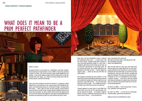 Prim Perfect: Issue 23 - February 2010: inside pages