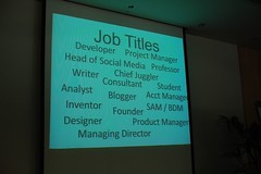 OHP showing lots of different job titles