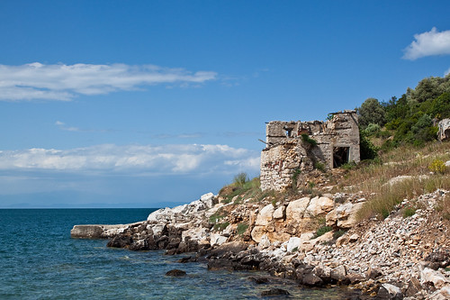 Coast and ruins