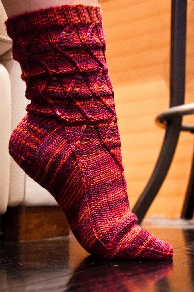 Psychedelia Socks - WIP