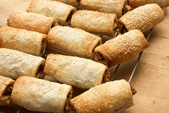the sausage rolls