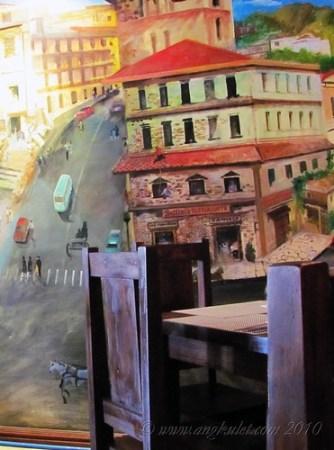 Bellinis handpainted wall