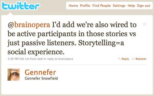 Twitter / Gennefer Snowfield: @brainopera I'd add we're ...