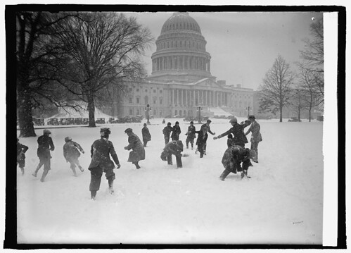 Senate pages in snow ball battle at Capitol, 1/2/25