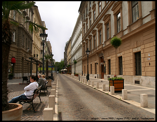 Budapest - one of the streets in Pesta