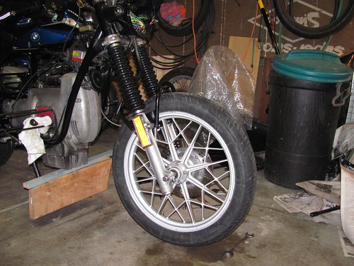 Front Wheel with 13 Rib Fork Boots