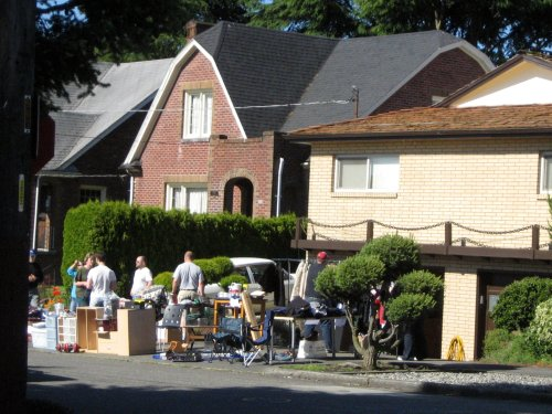 Sidewalk sale scene
