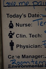 So, I guess in this hospital all of the nurses are women and all of the doctors are men?