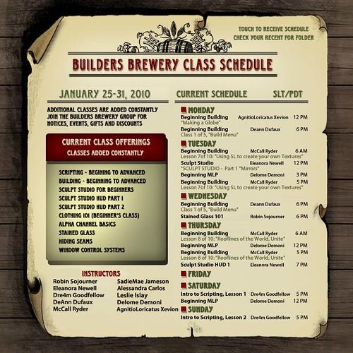 BB Classes Jan 25-31
