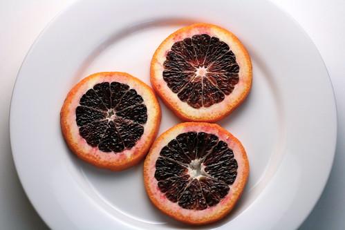 trio of blood orange slices