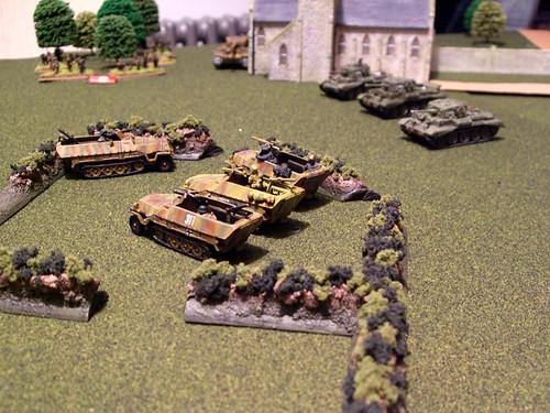 British Cromwells intercept the Panzergrenadier advance