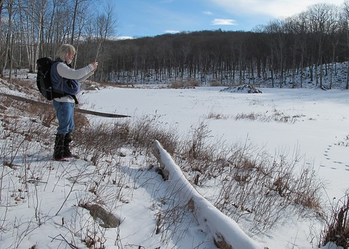 Dave shooting upstream control dam