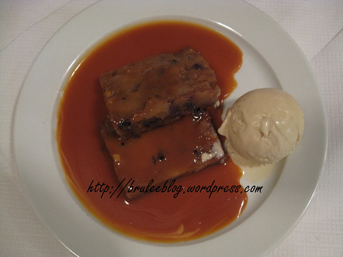 Bread Pudding and Butterscotch Sauce