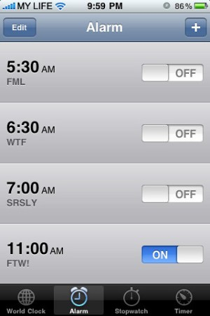 1-1-11 iPhone Alarms Not Working