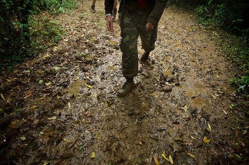 Yangming Shan - Hiking in Mud