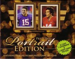 2010 Press Pass Portrait Edition box