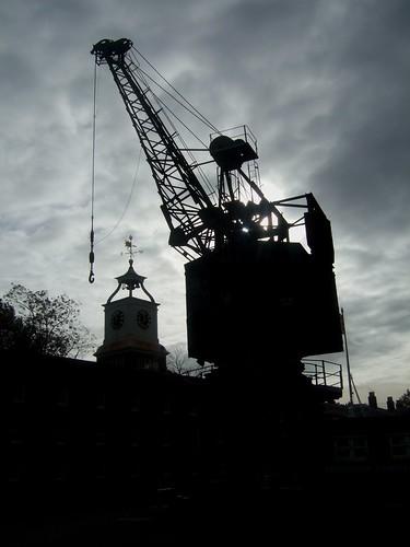 Crane and Clock Tower