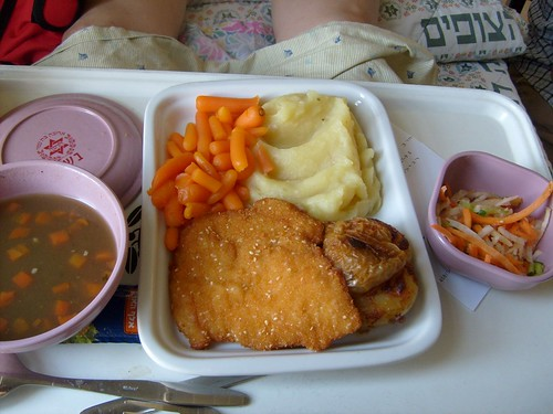 Fourth meal at hospital