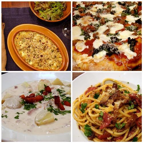 four days, four dinners