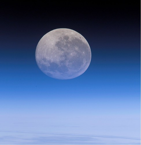 Full Moon, Distorted (NASA, International Space Station, 07/30/2007)