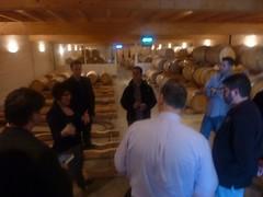 Barrel room at Ch. Haut Brisson