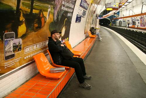 Pete in Paris Metro