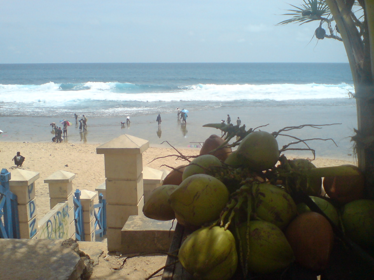 Enjoy Coco at Kukup Beach