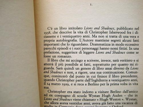 Christopher Isherwood, Christopher e il suo mondo, SE 1989, p. 11 (part.)