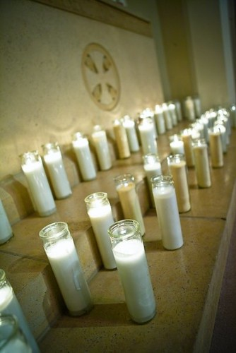 Inside, the guests lit candles for love ones passed away