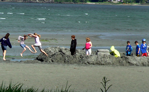 sand castle - Rathtrevor Beach, Parksville