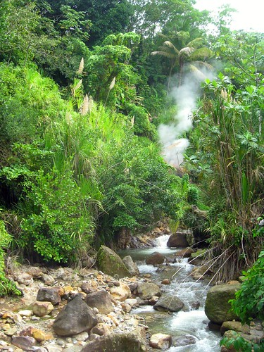 hot spring from an active volcano