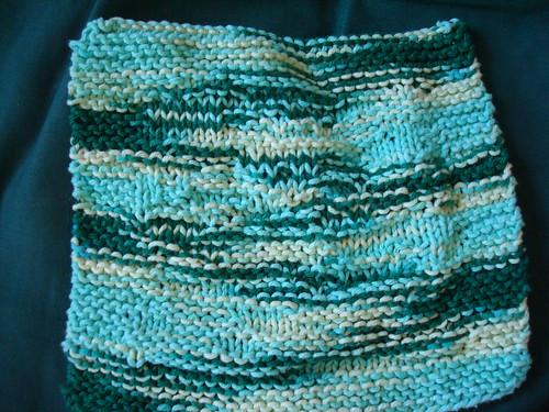 Green hockey dishcloth