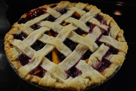 Peach-Blueberry Pie