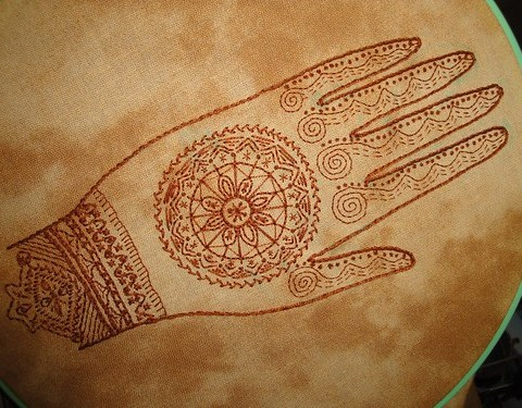 Mehndi embroidery