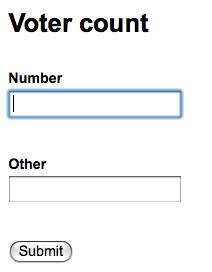 Simple form...