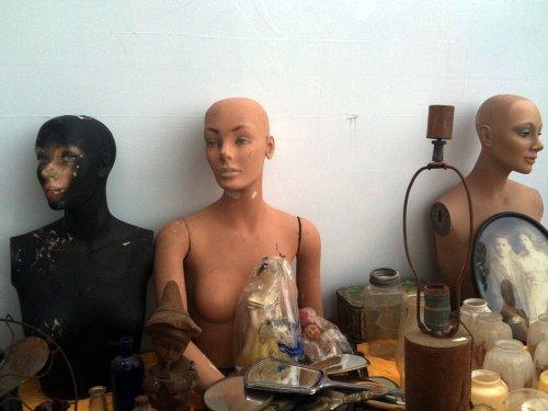 Three bald ladies