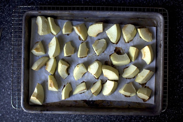 partially roasted apples