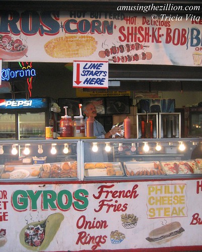 Gyro Corner on the Boardwalk in Coney Island. October 31, 2010. Photo © Tricia Vita/me-myself-i