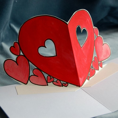 valentine hearts - inside