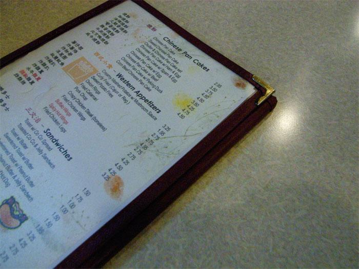 Coluck menu