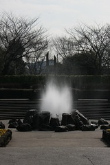 四季の森公園の噴水(Fountain at Shikinomori park, Japan)