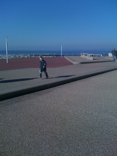 A walk along the prom on a fine spring day