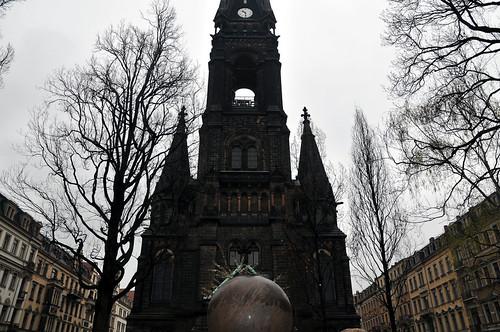 Noch siehts so aus am Martin-Luther-Platz.
