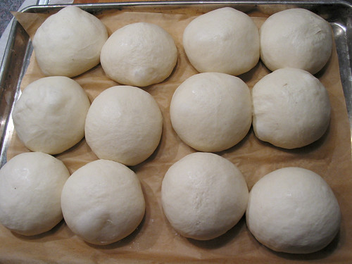 dividing dough into balls