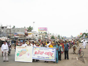 Rally was organized by Kalinga Sena at Puri