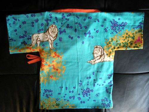 Lion Kimono Back