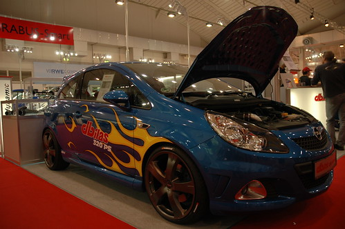 Dbilas Corsa OPC Demo car with HotWheels flames!