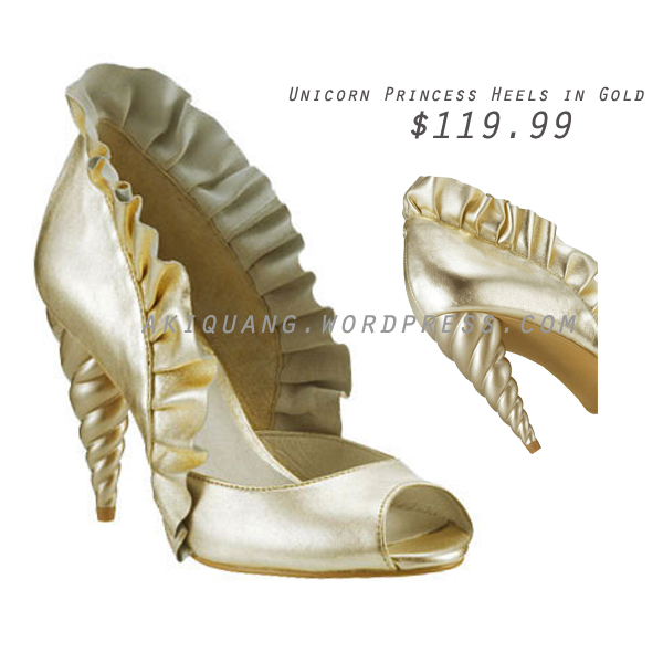 Unicorn Princess Heels in Gold