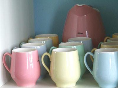 pastel mugs